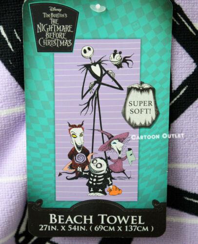 Disney The Nightmare Before Christmas Beach Towel Jack Skellington Gift Bath