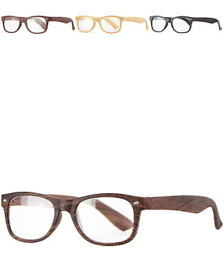 caripe Retro Lesebrille Holzoptik Brille Damen Herren Sehhilfe + Etui  - rg203