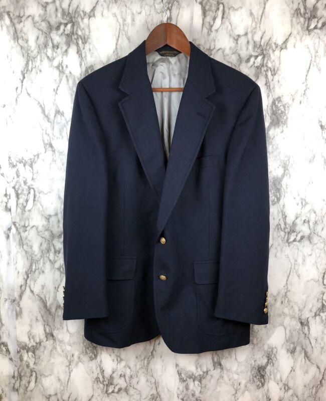 Lands End School Boy Blazer Sport Coat Navy Blue School Uniform Crested Buttons