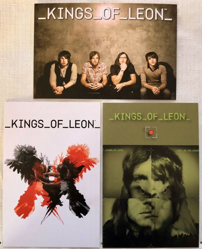 Three (3) Kings Of Leon Postcards- New - Official Merchandise