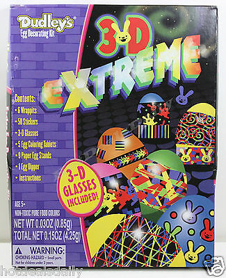 Easy Kids Halloween Decorations (DUDLEYS® 3D EXTREME™ EGG DECORATING KIT EASY CHILD SAFE COLORING W/)