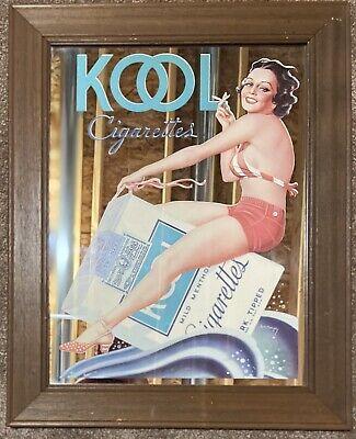 Vintage Kool Cigarettes mirror Bar Man Cave Sign Wall Decor Mid Century