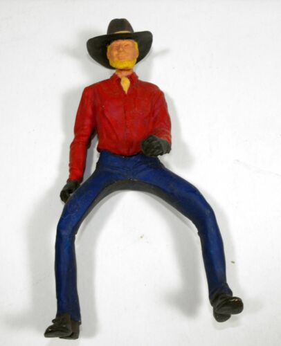 Traditional Scale Resin Western Male Rider Painted
