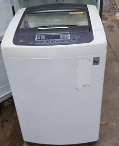 LG 8kgs Black Panel Top Loader Washing Machine Fawkner Moreland Area Preview