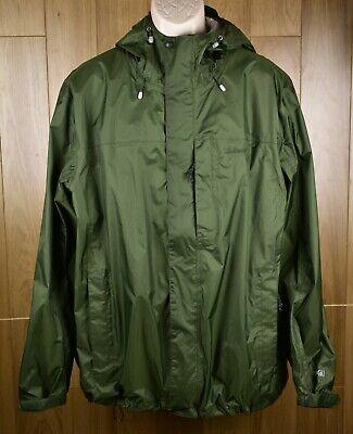 LL Bean Trail Model Waterproof Hooded Ripstop Green Rain Jacket Men's XL Tall