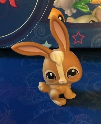 Used, Littlest Pet Shop Pets #28 Brown White Rabbit, Purple eye, Gen 1, Grey magnet  for sale  Sonora