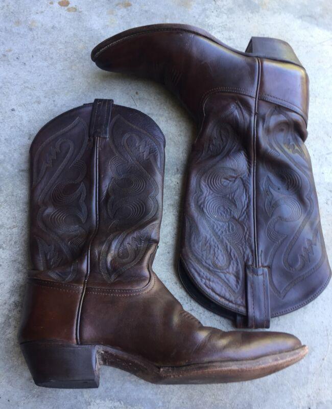 Tony, Lama, Men's, Distressed, Leather, Western, Cowboy, Boots, Sz, 8