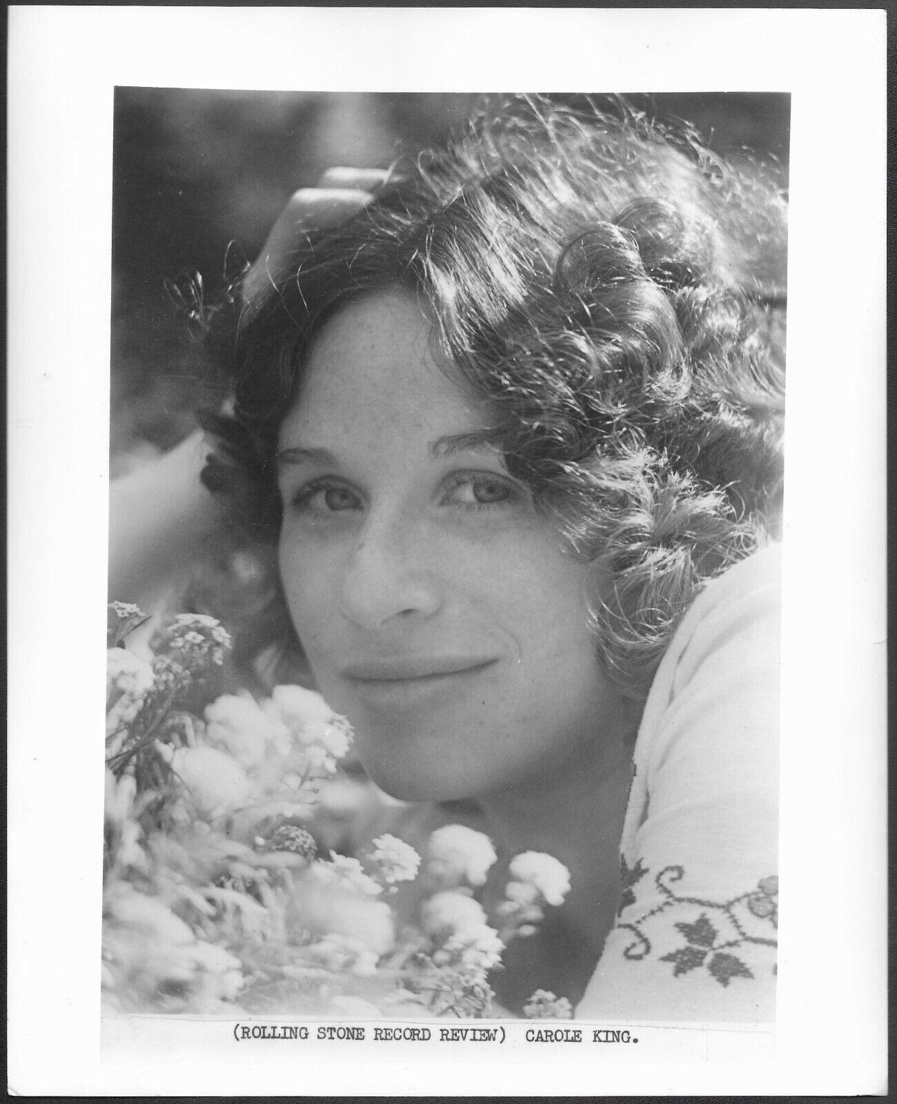 Carole King 1970s Original Rolling Stone Press Portrait Photo  - $14.95