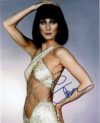 CHER signed 8x10 color photo autograph with COA