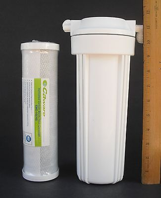 NSF IN-LINE WATER FILTER With CAWARE CBC-10 ACTIVATED CARBON BLOCK FILTER