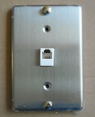 Mount Wall Jack (TEL PHONE JACK STAINLESS STEEL WALL MOUNT COVER PLATE)