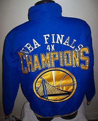 Golden State Warriors 4 Time Nba Finals Champions Jacket S M L Xl 2X Blue