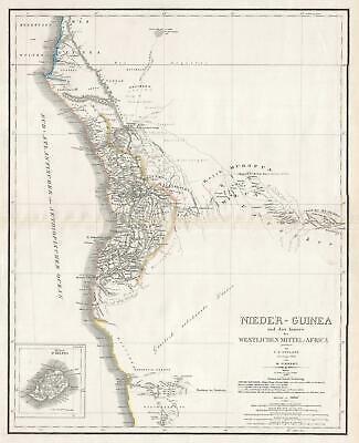 1846 Weiland and Kiepert Map of southwestern Africa