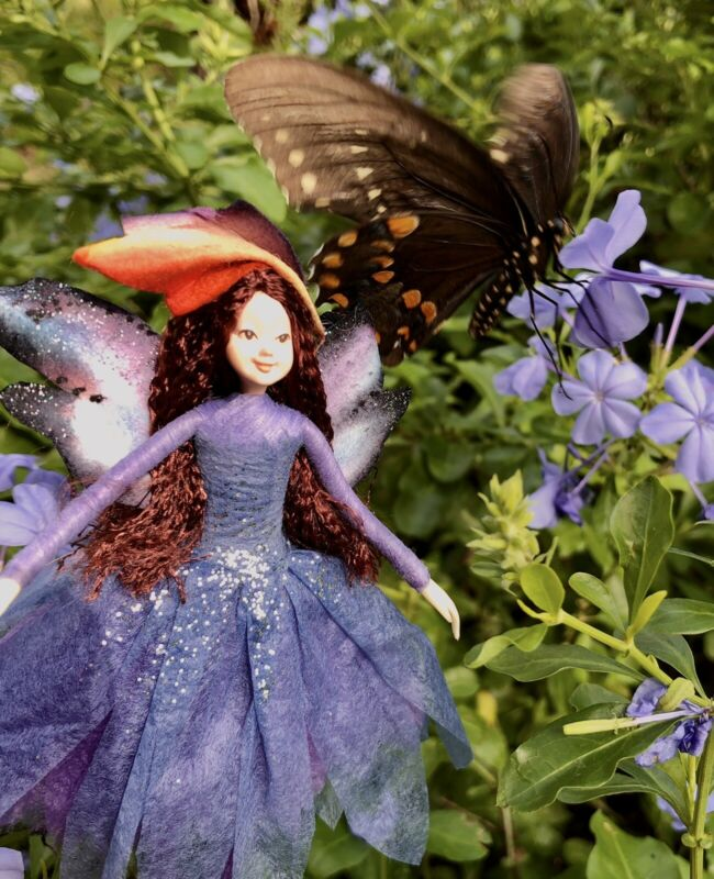"""Poseable Handmade Fairy Collectible Doll Ornament """"Dawn"""""""