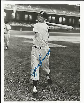 Jerry Lumpe New York Yankees Signed Auto 6 x 7 1/2 Photo Autograph