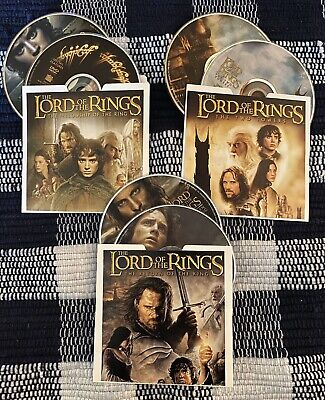 The Lord of the Rings: Trilogy (DVD, 2004, 6-Disc Set) *Discs Only*
