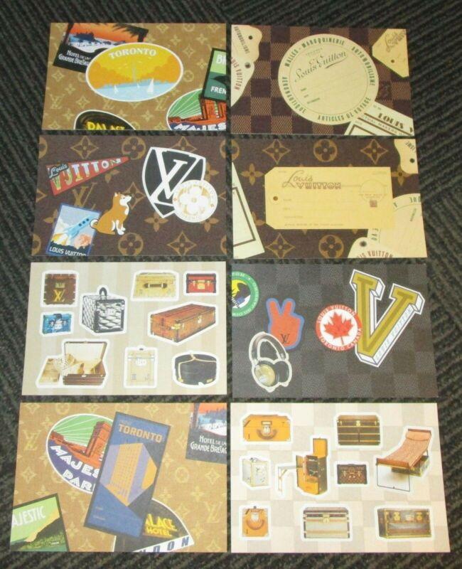 LOUIS VUITTON Toronto Time Capsule Exhibition FULL SET OF 8 Postcards