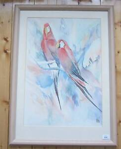 Madden, Parrots, watercolour, By Australian artist, Prospect Prospect Area Preview
