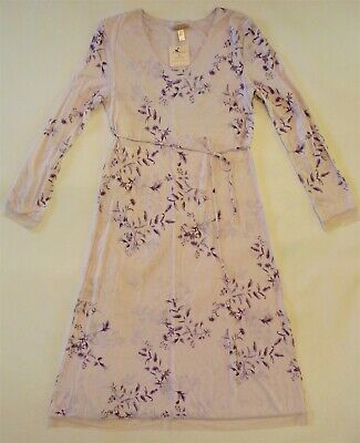 NWT Donna Nadeau Nordstrom Lavender LS Long Nightgown S Small Bamboo/Cotton SOFT