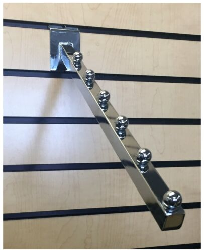 Chrome 6-Ball Waterfall for Slatwall - Pack of 10 for Retail or Home Use