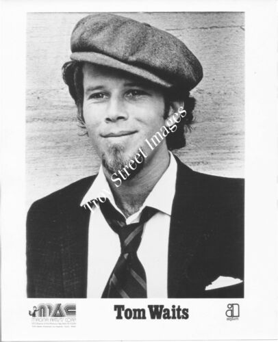 Original 8x10 promo photo of singer/songwriter TOM WAITS, mid 1970s