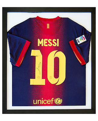 FRAME FOR FOOTBALL SHIRT 70x60, RUGBY CRICKET, T-SHIRT *INCLUDES SHIRT INSERT*