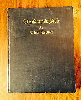 """The Graphic Bible"" by Lewis Browne- NY- 1928-Illust. by Rothko- RARE"