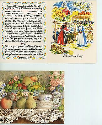 1 LANG FRUIT ROSE GRAPE PEAR CARD 1 VINTAGE PICNIC CHICKEN SOUP RECIPE ART PRINT - Fruit Soup Recipe
