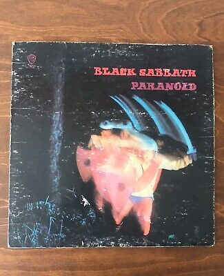 BLACK SABBATH GREEN LABEL 1970 ORIG Paranoid US WARNER BROS RECORD VG+