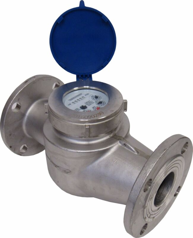 """New PRM 2"""" Flanged 304 Stainless Steel Multi-Jet Cold Water Meter"""