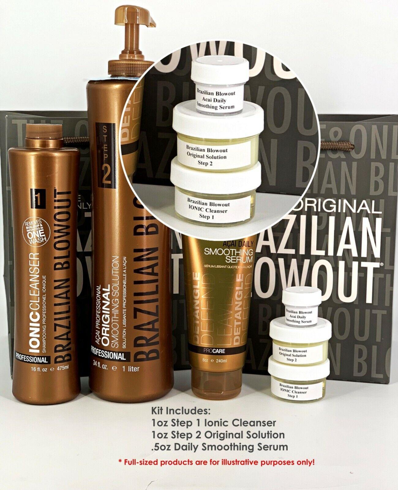 Brazilian Blowout Original Solution Keratin Treatment 1oz Ki