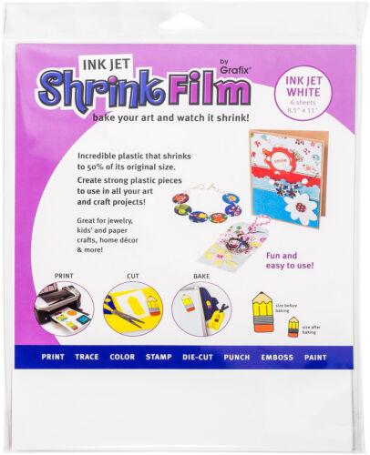 Grafix KSF50-WIJ 8-1/2-Inch by 11-Inch Shrink Film Printable White Inkjet 50-...