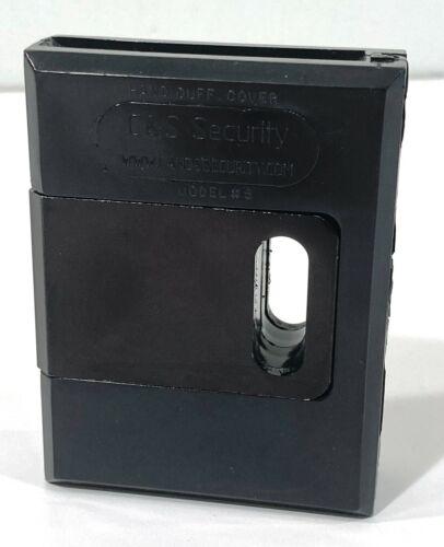 NEW C & S SECURITY  FIFTH MODEL BLACK BOX PRISONER TRANSPORT HANDCUFF CUFF COVER
