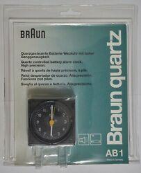 Braun AB1 quartz controlled battery alarm clock 4746 Made in Germany BNIB