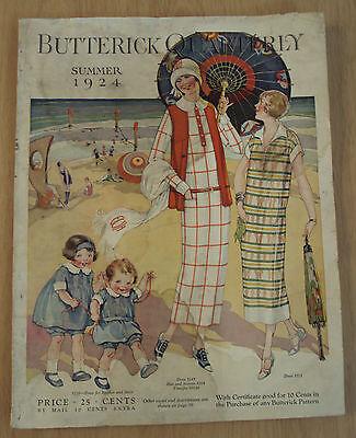 "1924 FASHION Magazine~""BUTTERICK QUARTERLY""~AMAZING & BEAUTIFUL Color CONTENT~"