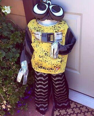 NWT EURO DISNEY WALLE WALL E ROBOT PLUSH HAT GLOVES COSTUME CHILD BOYS M 6 7 - Euro Disney Kostüm