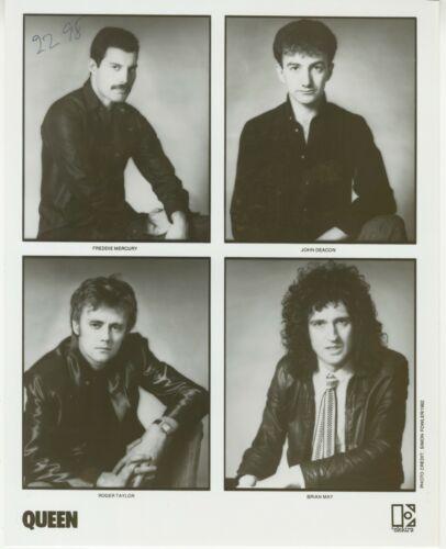 QUEEN Band - Elektra Records 8x10 Black & White Photograph 1982 Promo vintage 1