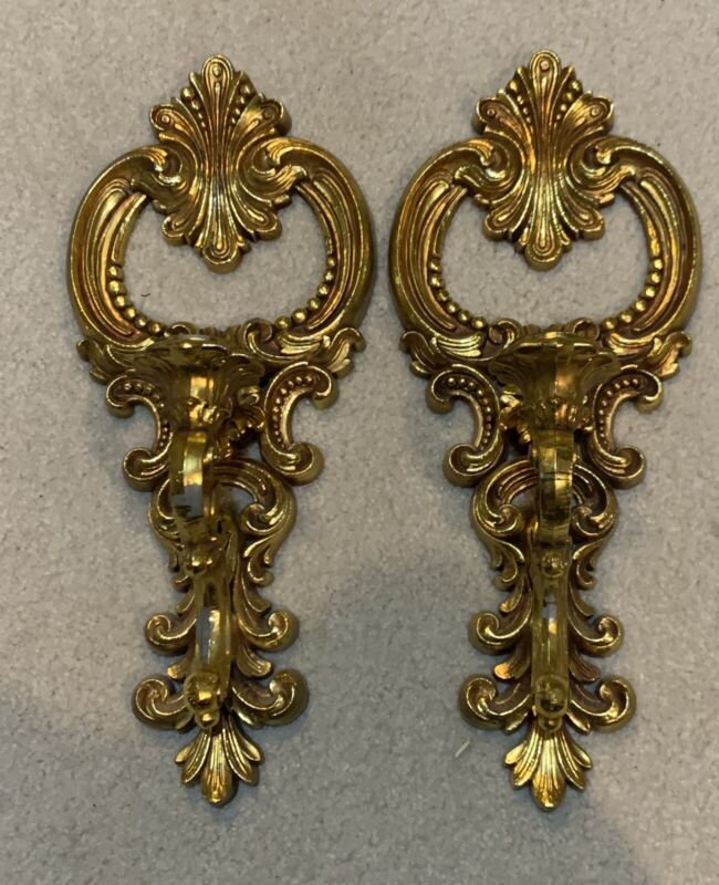 Vintage Dart Ind Wall Sconce Candle Holders #4204 Pat 1977