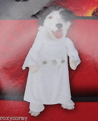 "Disney Star Wars Princess Leia Dog Costume Size XSmall 12"" Chest 7"" Neck to Tail"