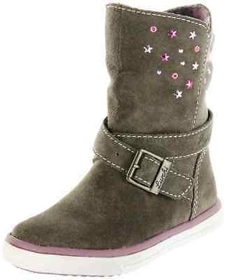 Mädchen Bungee (Lurchi Kinder Stiefel grau Leder Mädchen Schuhe 33-13604-44 bungee CINA-TEX)