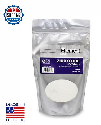Element Zinc Oxide Powder Usp Pure X 1 Lb - Pharmaceutical Grade