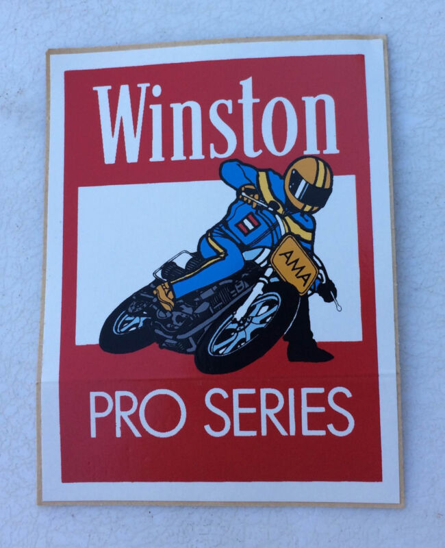 Rare Early Original Winston Pro Series AMA Motorcycle Race Racing Decal Sticker