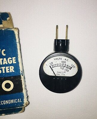 Working Vintage Emico Model O-116 Ac Voltage Tester With Box