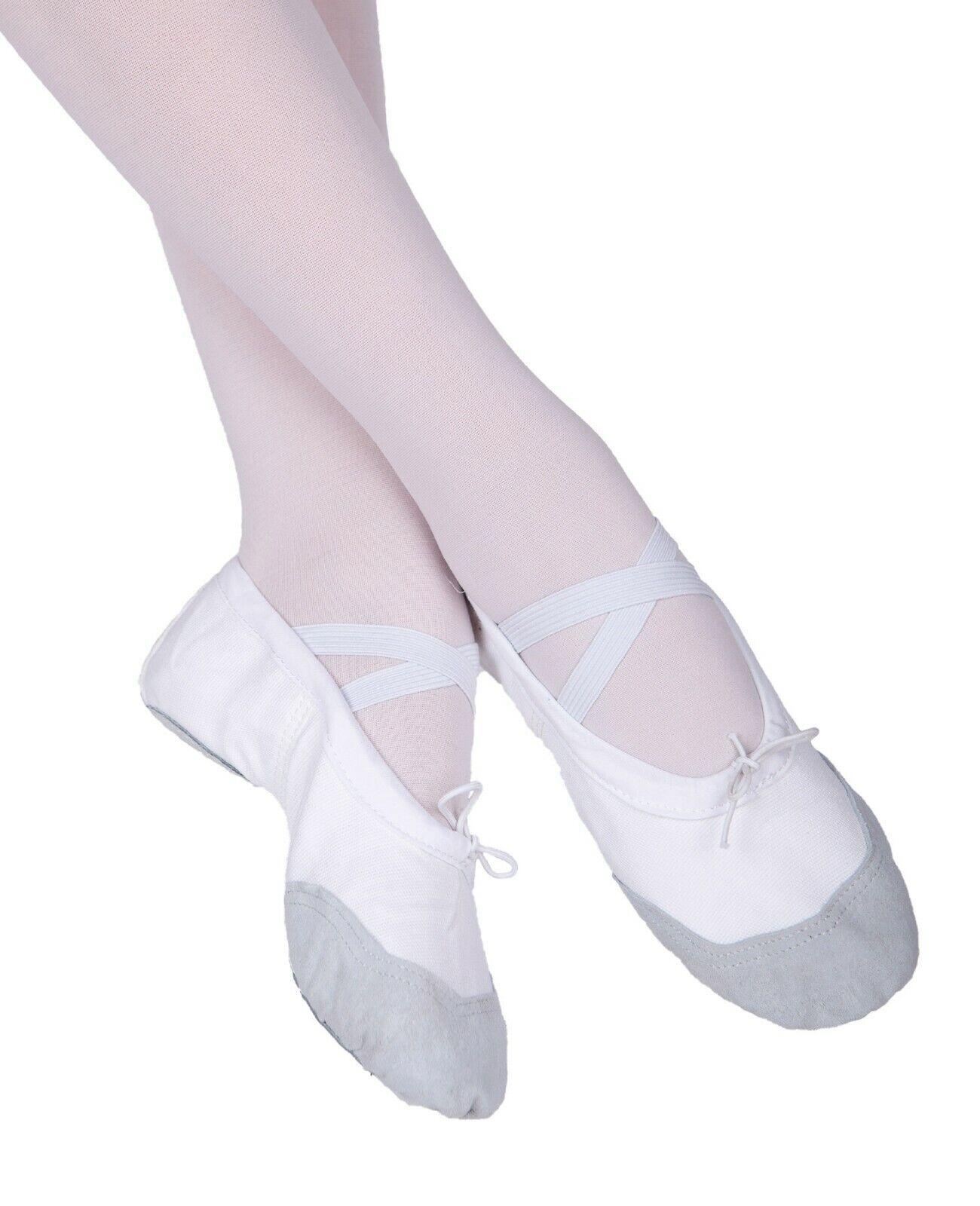 Ballettschuhe WEIß Ballettschläppchen Tanzschuche NEU Ballet Schuhe Tanzen