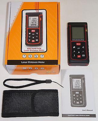 60m 197ft 2362in Digital Laser Distance Meter Range Finder Measure Diastimeter