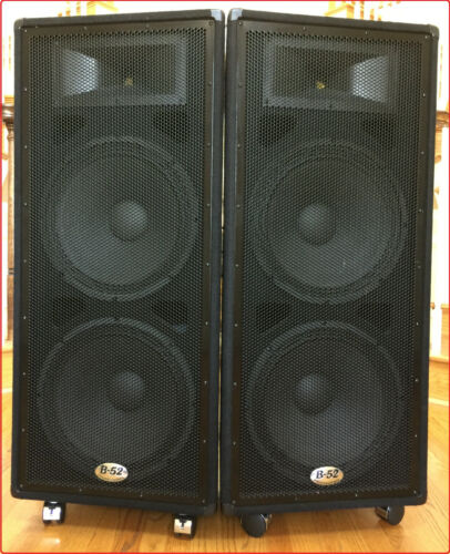 """B-52 (USA) Professional MX-1515 - Dual 15"""" Two-Way Speaker System, 600W RMS each"""