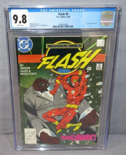 FLASH #9 (Chunk 1st appearance) CGC 9.8 NM/MT DC Comics 1988 Millennium Week 5