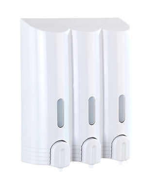 Wenko 3-fach Seifenspender Mura Wandmontage Desinfektionsmittel Spender Hygiene