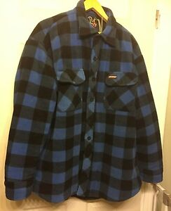 Dickies Flannel Quilted Winter Shirt Jacket Sz XL