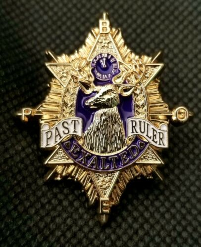 ELKS BPOE PAST EXALTED RULER LAPEL PIN  (ELK PER-Pn)